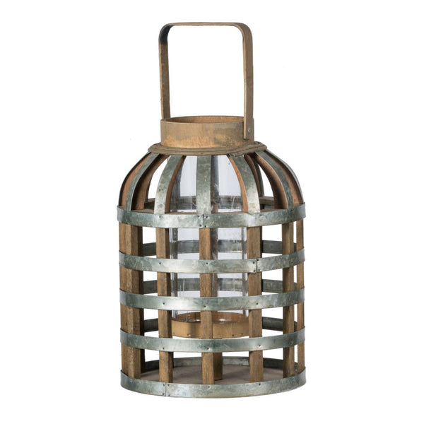 A&B Home AV37738 Wood Shanghai Lantern, Medium