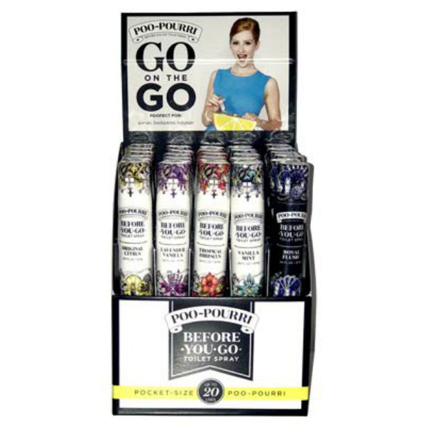 Poo-Pourri DISPLAY10ML Before You Go Poo-Pourri Toilet Spray Display, 10 mL