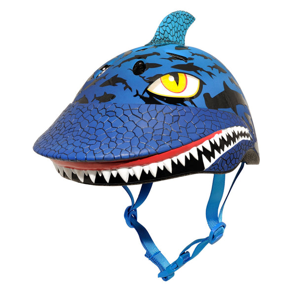 Raskullz 8033080 Boys Shark Jawz Helmet with Nylon Straps, Blue