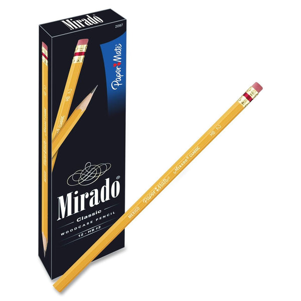 Paper Mate 2097 Mirado Classic Woodcase Pencils, HB #2, 12-Count