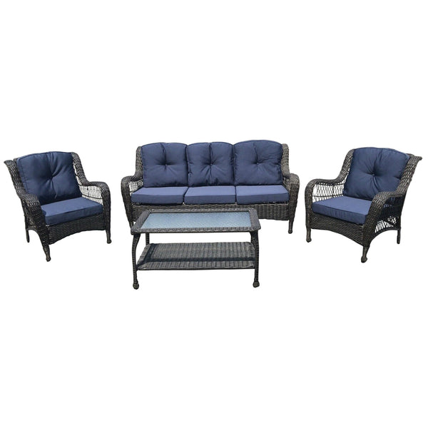 Golden Hill GHSW16-631-4 Melrose 4-Piece Outdoor Set with Table