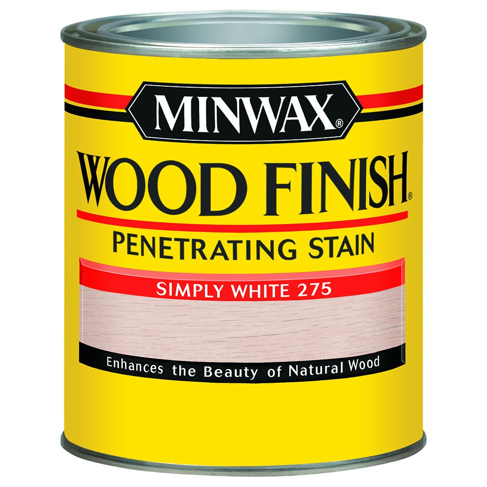 Minwax 227654444 Wood Finish Penetrating Oil-Based Stain, Simply White, 1/2 Pint