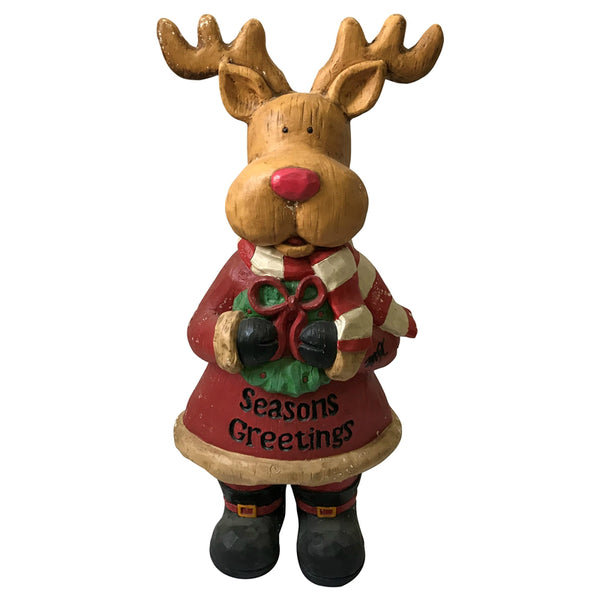 Santas Forest 87305 Christmas Moose with Greeting Card, 30""