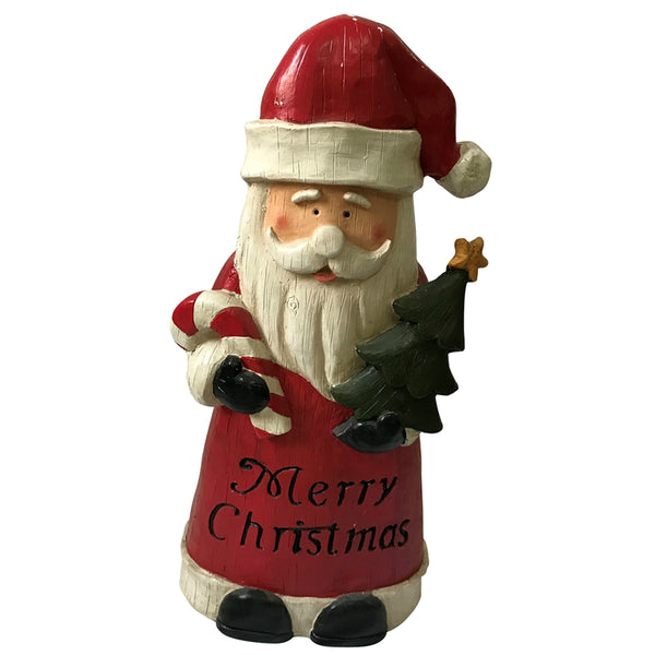 Santas Forest 87301 Merry Christmas Santa with Candy Cane, 27""