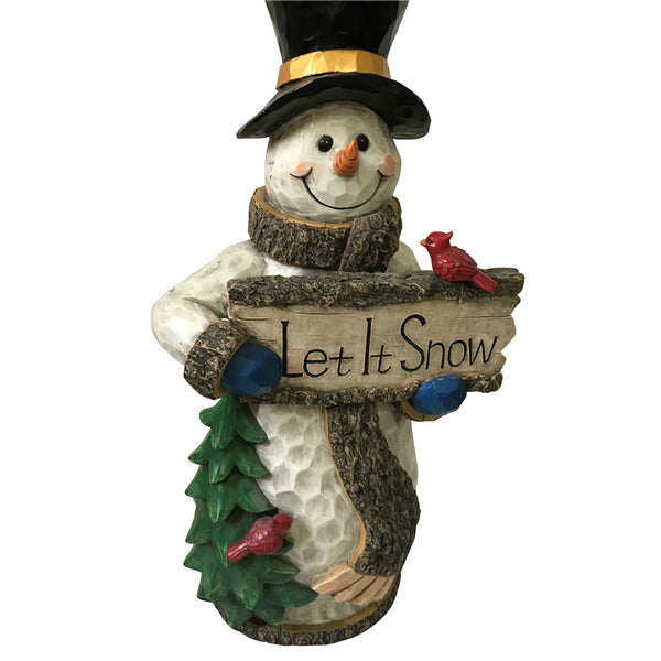 Santas Forest 87313 Let It Snow Christmas Snowman, 30""