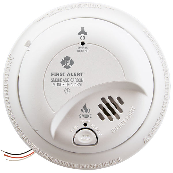 First Alert 1039807 Hardwired Smoke & Carbon Monoxide Alarm with 10-Year Battery Backup