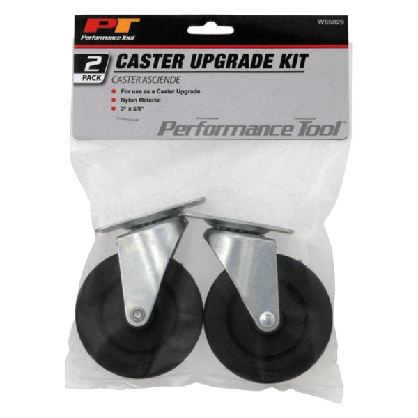 "Performance Tool W85029 Creeper Caster Upgrade Kit, 3"" x 5/8"", 2-Pack"