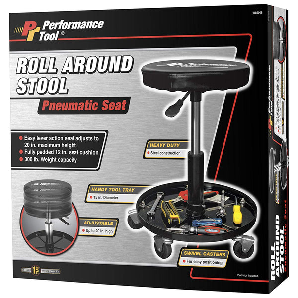 Performance Tool W85008 Professional Hydraulic Shop Seat