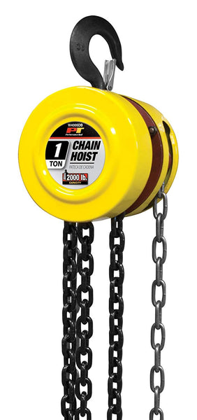 Performance Tool W4005DB Chain Hoist with 1 Ton Load Capacity & 8' Lift Range