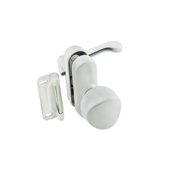 National Hardware N262-162 Screen & Storm Door Knob Latch, White, 1-3/4""