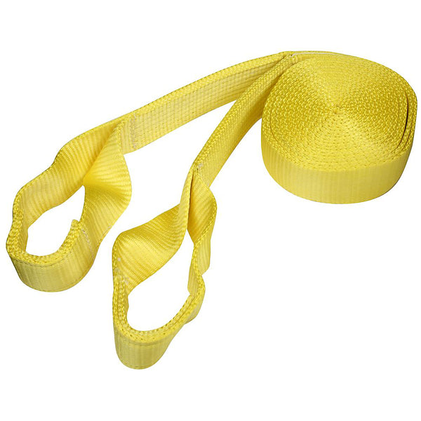 National Hardware N264-051 Tow Rope with Loop Ends, Yellow, 20'