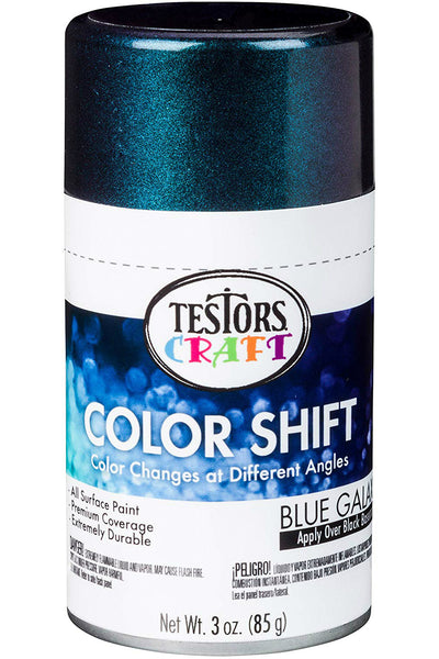 Testors Craft 330573 Color Shift Aerosol Can Paint, Blue Galaxy, 3 Oz