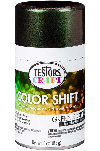 Testors Craft 330572 Color Shift Aerosol Can Paint, Green Copper, 3 Oz