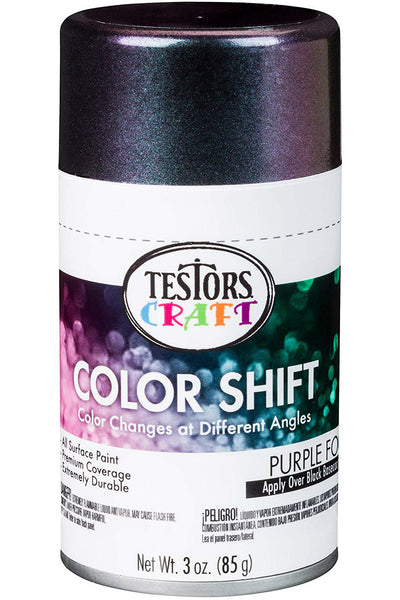 Testors Craft 330575 Color Shift Aerosol Can Paint, Purple Fog, 3 Oz