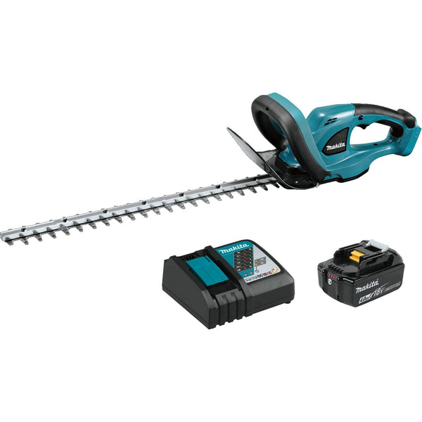 Makita XHU02M1 Lithium‑Ion 18V LXT Cordless Hedge Trimmer Kit, 4 Ah, 22""