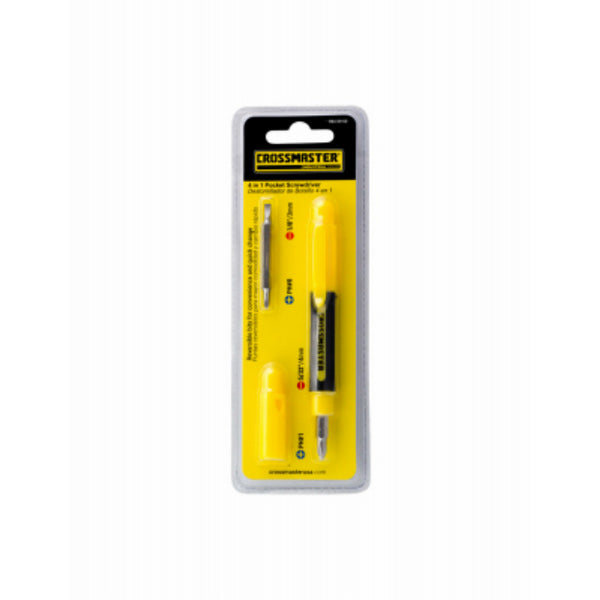 Crossmaster 9940960 4-in-1 Pocket Screwdriver Set