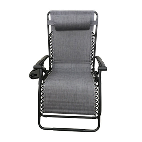 Four Seasons RXTV-1925-XL-G Marbella Steel Zero Gravity Chair, Gray, X-Large