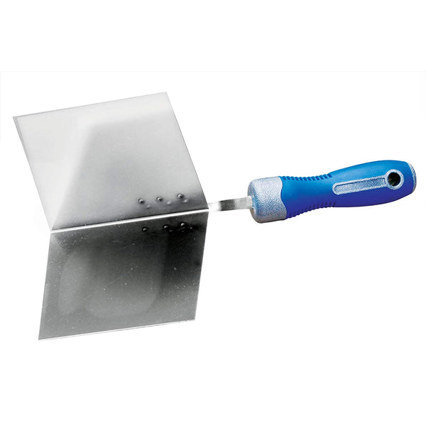 "Advance 223SS Outside Cool Grip II Round Handle Trowel, 90° Corner, 4-1/2"" x 4"""