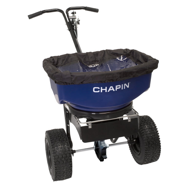 Chapin 82088B Professional Sure Spread Salt & Ice Melt Spreader w/Baffles, 80 Lb