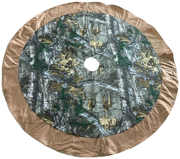 "Santas Forest 49337 Christmas Snowman Tree Skirt, Camo, 48"" Diameter"