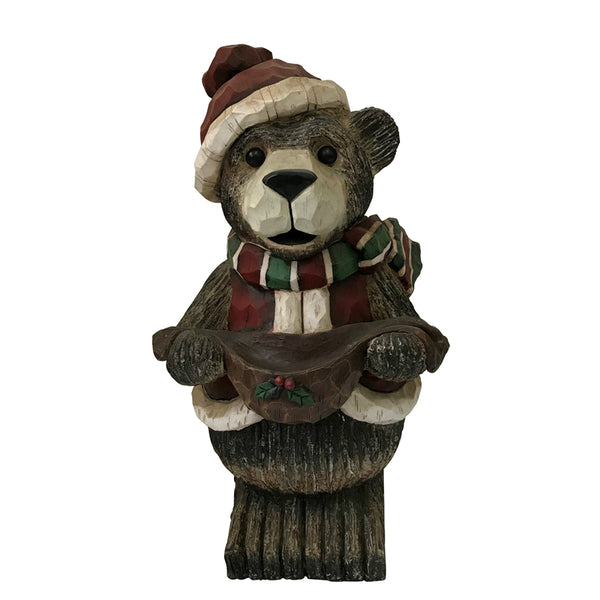 Santas Forest 87307 Christmas Bear with Candy Dish, 21""