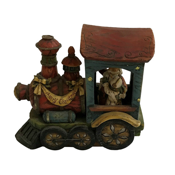 Santas Forest 89321 Christmas Train, Resin, 7""