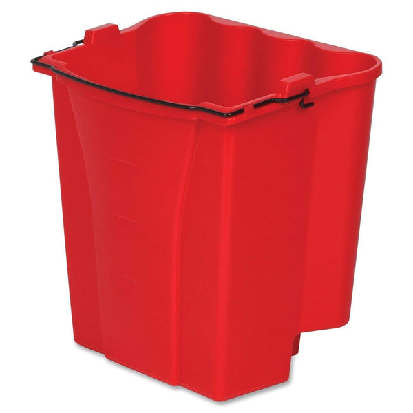 Rubbermaid Commercial 2064907 WaveBrake Dirty Water Bucket, Red, 18 Qt