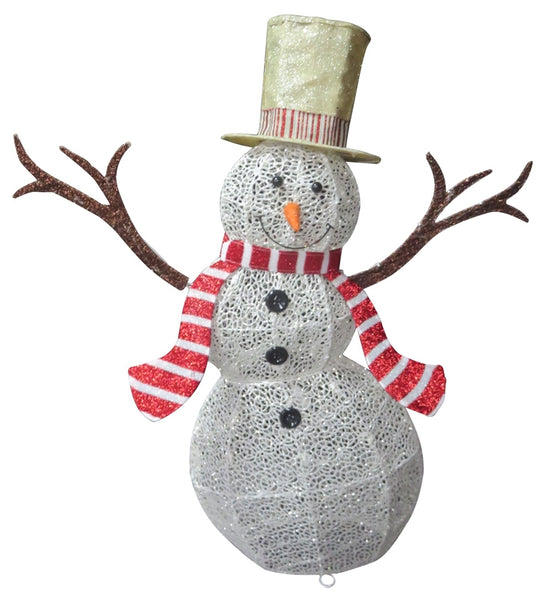 Santas Forest 58305 Christmas Snowman with LED Lights, 53""