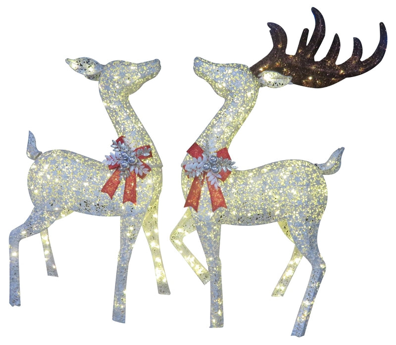 Santas Forest 58329 Christmas Buck & Doe with LED Lights, 68""