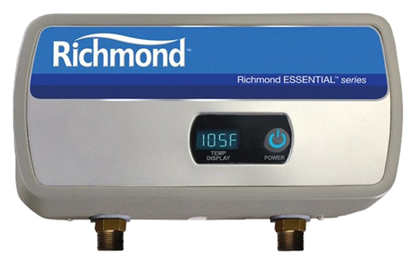 "Richmond RMTEX-04 Essential Tankless Electric Water Heater, 1/2"" NPT, 0.9 GPM"