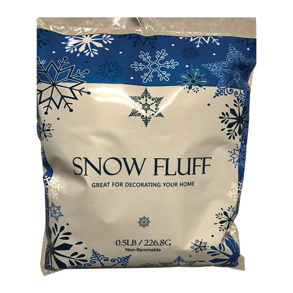 Santas Forest 81450 Christmas Snow Fluff, White, 1/2 Lb