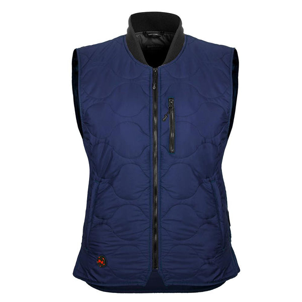 Mobile Warming MWJ18W06-06-03 Bluetooth 7.4 Volt Womens Vest, Navy, Medium
