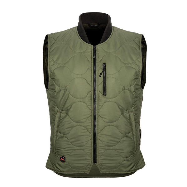 Mobile Warming MWJ18M17-21-07 Bluetooth Mens Company Vest, 12V, Olive, 3-XL