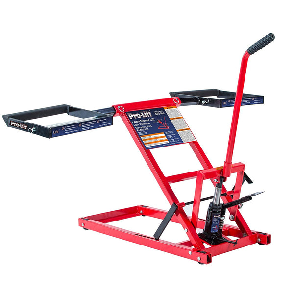 Pro-Lift T-5355A Lawn Mower Lift with Adjustable Wheel Baskets, 550 lbs