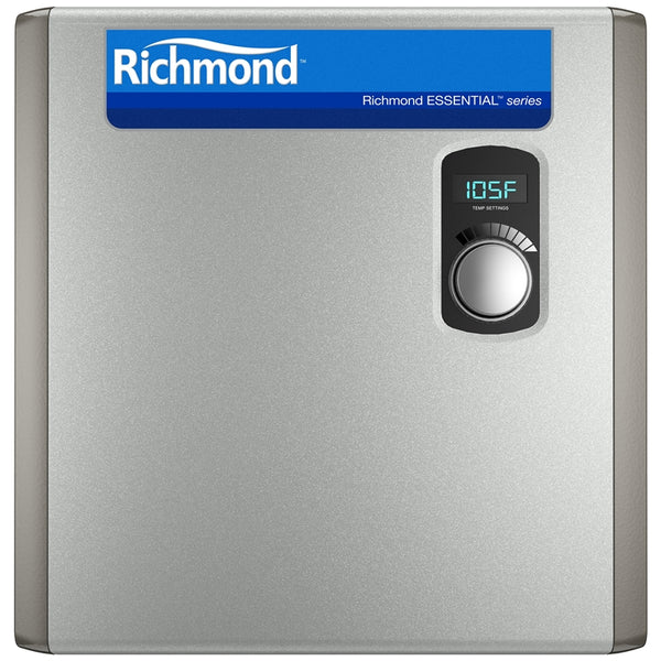 "Richmond RMTEX-27 Essential Tankless Electric Water Heater, 3/4"" NPT, 6.6 GPM"