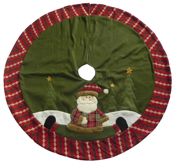 "Santas Forest 49331 Christmas Country Santa Tree Skirt, 42"" Diameter"