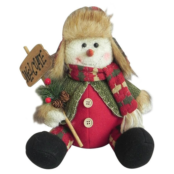 Santas Forest 49321 Christmas Country Snowman, 15""