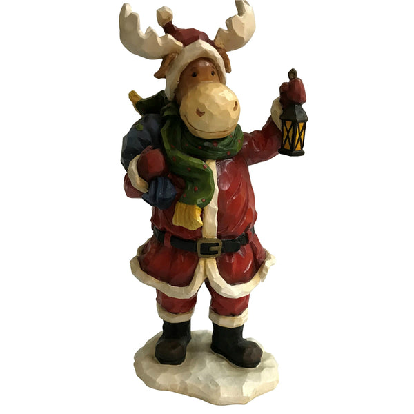 Santas Forest 89333 Christmas Resin Moose, 9-1/2""