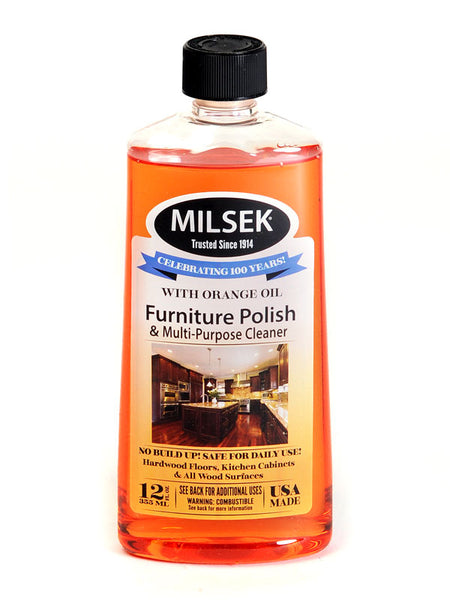 Milsek OR-6 Furniture Polish & Multi-Purpose Cleaner with Orange Oil, 12 Oz