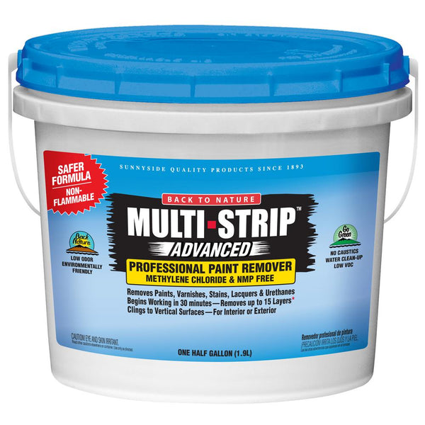 Back To Nature 65764A Multi-Strip Advanced Professional Paint Remover, 1/2 Gal
