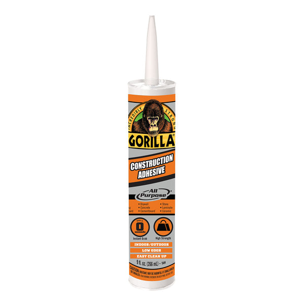 Gorilla 8005202 All-Purpose Construction Adhesive, 9 Oz