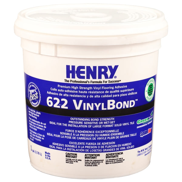 Henry 16211 VinylBond Premium High Strength Flooring Adhesive, Vinyl, 1 Gallon