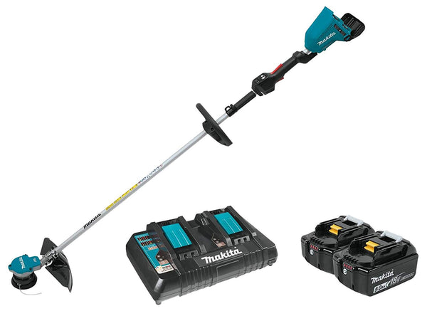 Makita XRU09PT Lithium‑Ion 18V LXT Brushless Cordless String Trimmer Kit, 5 Ah