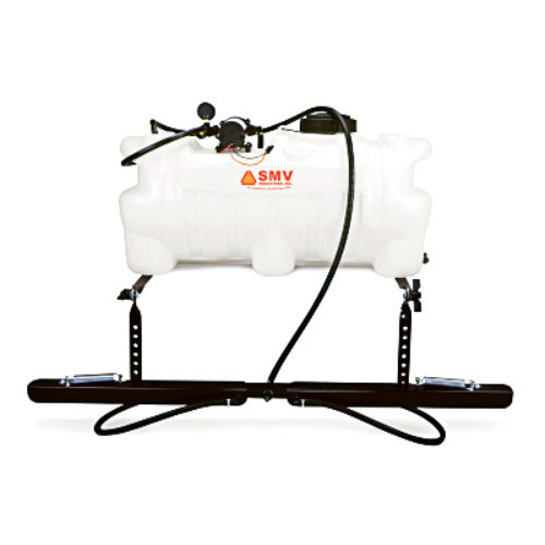 SMV 25AW202HLB1G2N ATV Sprayer with 2 Nozzle Boom, White, 25-Gallon