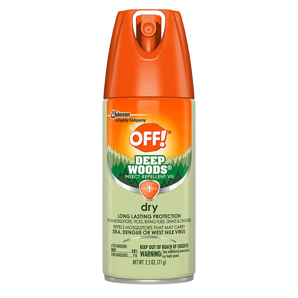 OFF! 73175 Deep Woods Insect Repellent VIII Dry Aerosol, 2.5 Oz
