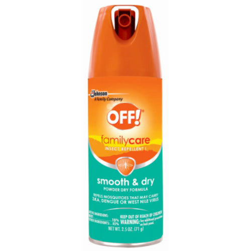 OFF 71037 FamilyCare Smooth & Dry Aerosol Insect Repellent, 2.5 Oz