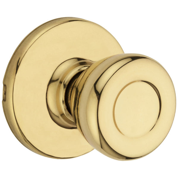 Kwikset 200T-3-6AL-RCS-V1 Tylo Passage / Hall / Closet Knob, Polished Brass