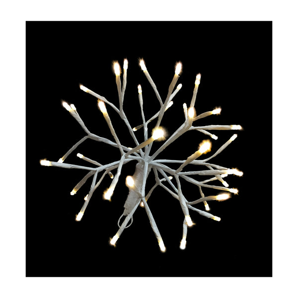 Holiday Bright LED3D10STLCLWW LED 3D Starlight Cluster w/48 Warm White Light,10""