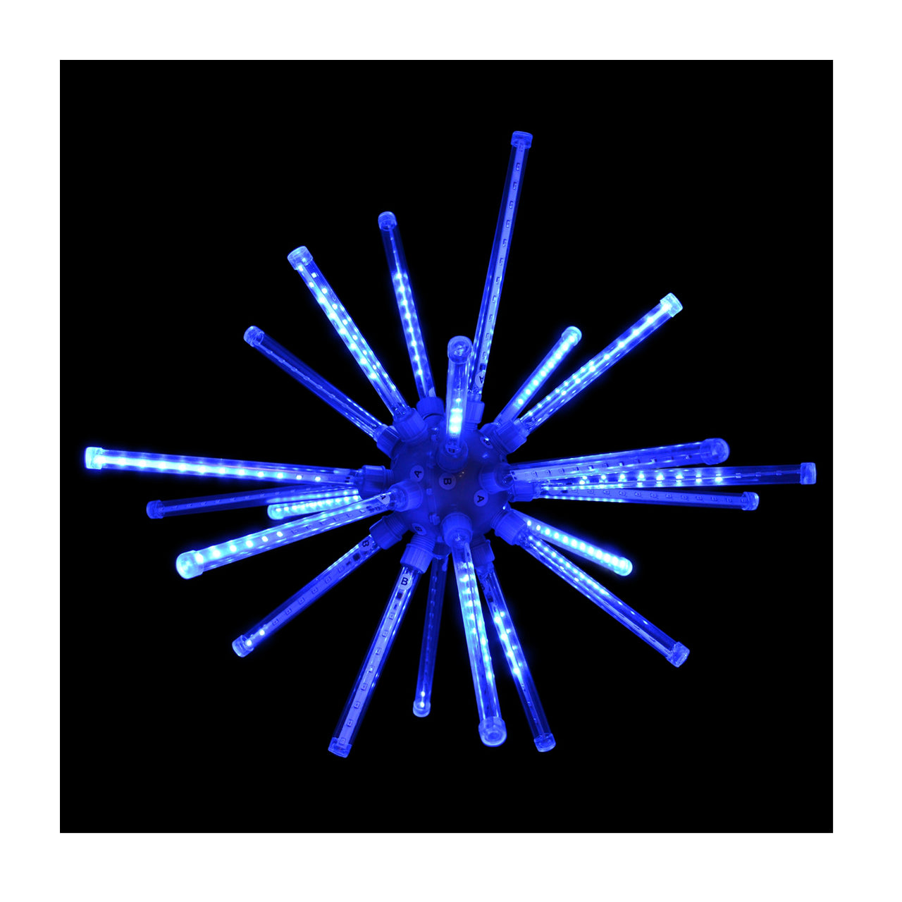 Holiday Bright LED3D20MBRSTABL Meteor Burst Combo with 224 LED Blue Lights, 20""