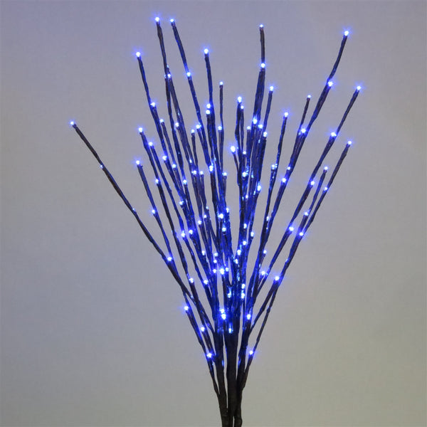Holiday Bright LED-LBRST140-BL Christmas Staked LED 140 Blue Light Burst, 36""